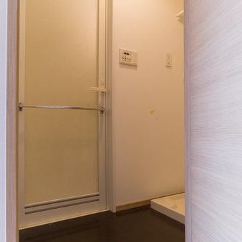 脱衣場は、広くもなく、狭くもないという印象。