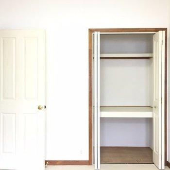 各お部屋に収納が付いています※写真は3階の反転間取り別部屋のものです