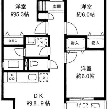 3部屋もあります!
