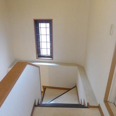 階段はすべて手すり付です