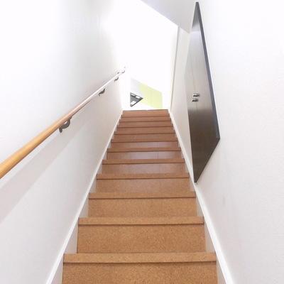 玄関からドーンと階段!