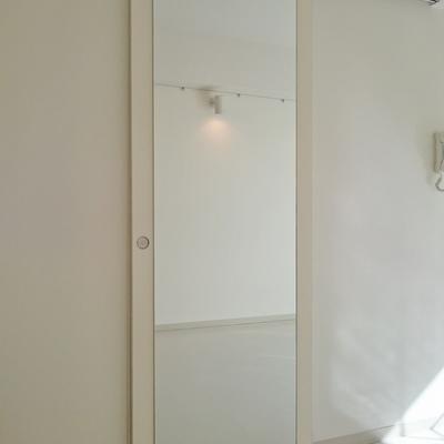 全身鏡がドアにぺったり!