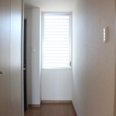 窓があるので、玄関と廊下も明るい!