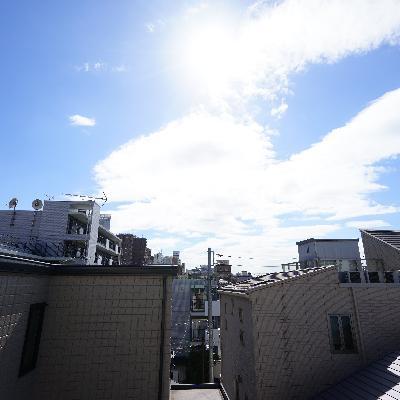 眺望も空が抜けて気持ち良い!!※画像は3階