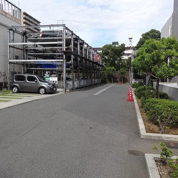 立体駐車場!