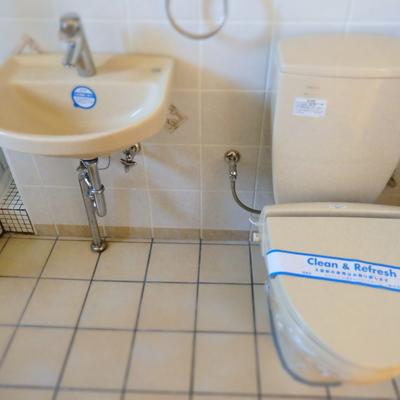 お風呂と同室にあるトイレ