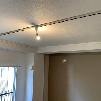 天井にはアレンジ可能なライティングレール!