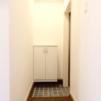 カントリーチックなタイルの玄関