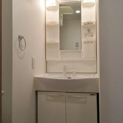 脱衣所には洗面台あり