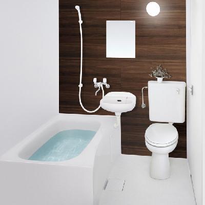 お風呂は3点ユニットが新設されます。※写真はイメージです