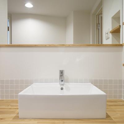 洗面台もとっても幅広!