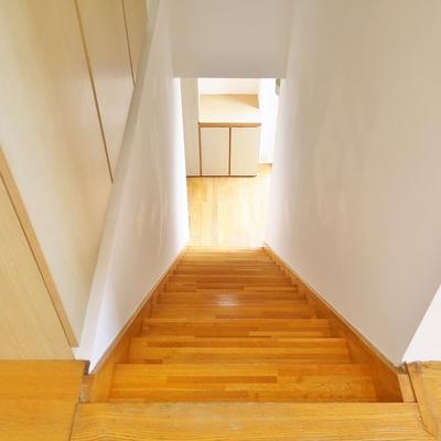 階段をあがって上のフリアへ!