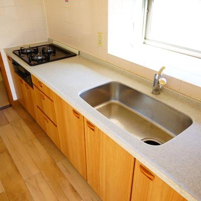 キッチンはとてもゆったりサイズです♪