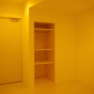 居室空間には奥行680mmの収納