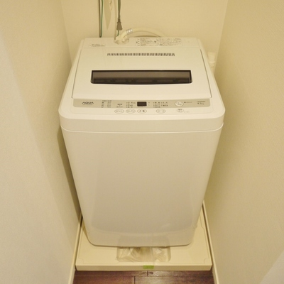 洗濯機も付いてるよ。