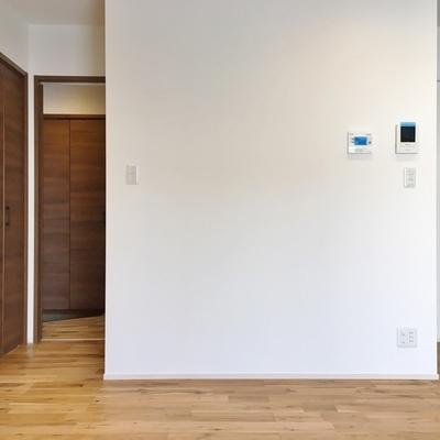 こちらは玄関方面。壁が1枚あることで廊下のような空間。