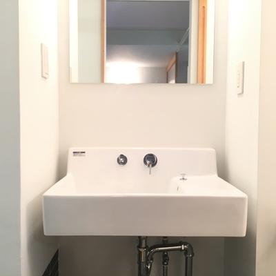独立洗面台もスタイリッシュです。※写真は前回募集時のものです