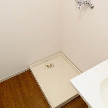 脱衣所に洗濯機をおけます※写真は4階の同間取り別部屋のものです