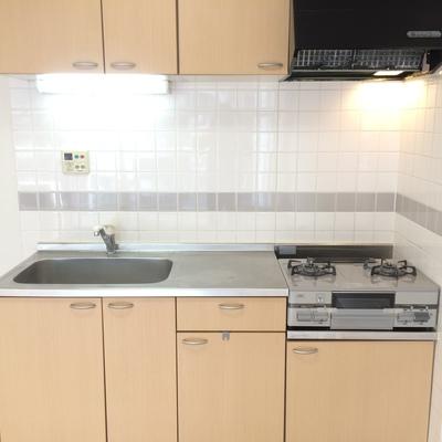 料理スペースもある大きめのキッチン