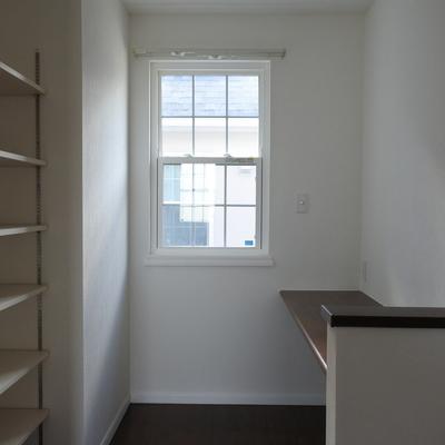 2階に登った所に書斎スペース