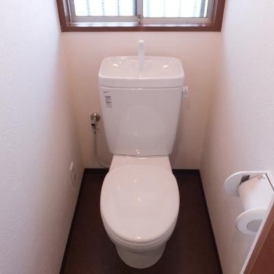 トイレはウォシュレットなし!でも個室いいですよね〜