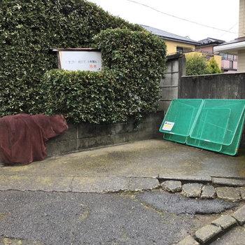 ゴミステーションも敷地内にあります。