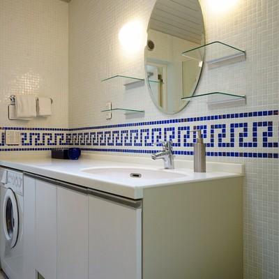 洗面台もゆったり洗濯機が下に♪