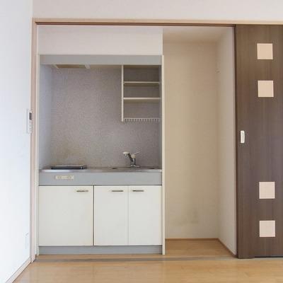 キッチンも扉の裏に。
