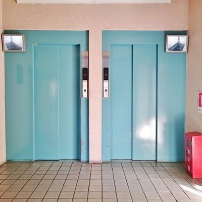 エレベーターは2台とも防犯モニター付き。