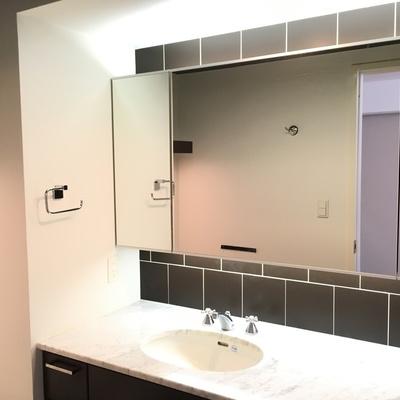大きな鏡、どどんと!