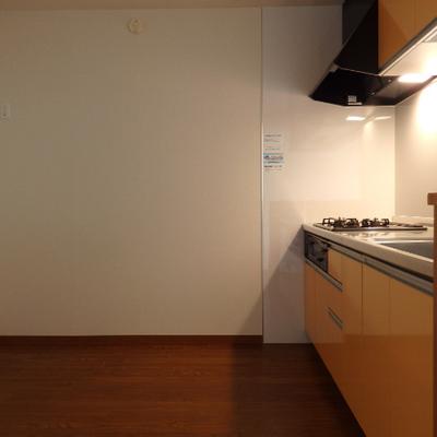 キッチン後ろも広い