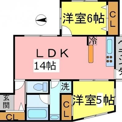 各部屋に収納と採光面がある、使いやすい間取り。