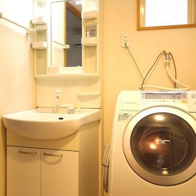 ベランダがなくても安心のドラム式洗濯機です。
