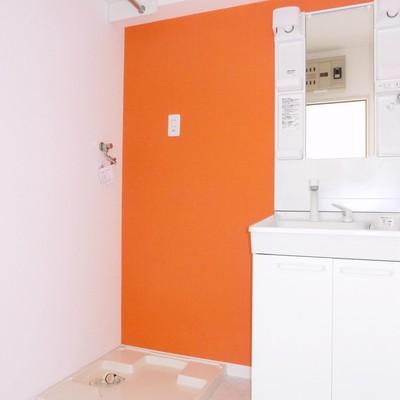 洗濯機置きも余裕スペース
