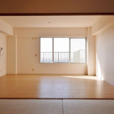 この広さがあれば、家具の配置で困ることはない