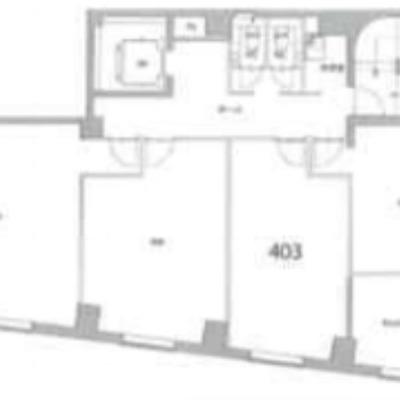 右から2番目、403のお部屋です。