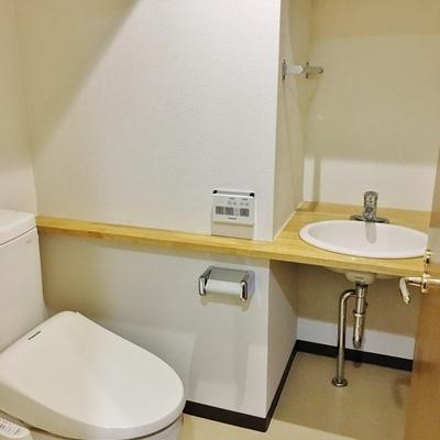 手を洗うスペースががかわいい。