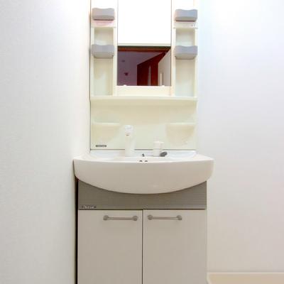 独立洗面台は仲良くお使い下さい