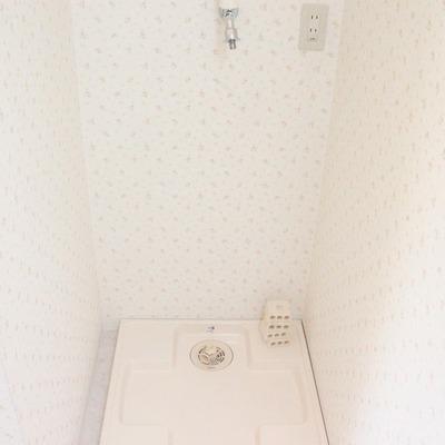 脱衣所に洗濯機が置けるのは便利ですね