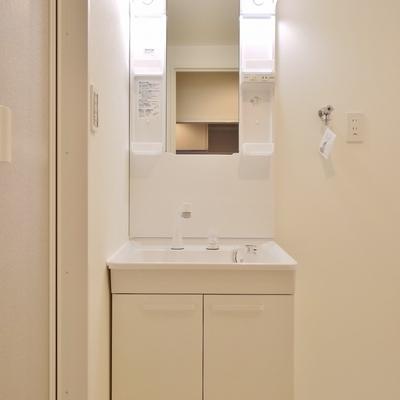 洗面の横には洗濯置き場。
