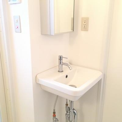 洗面台の形が素敵