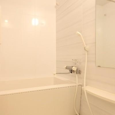ミラー付きのお風呂。