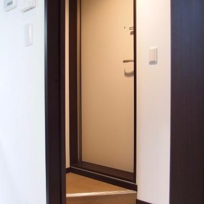 入り組んだ玄関。