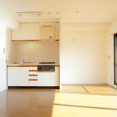 冷蔵庫も食器棚もいろいろ置けそうですよ