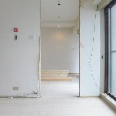 ここにドアが来ます※写真は工事中です