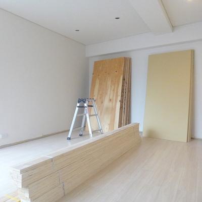 台形のお部屋、広くて使いやすそうです※写真は工事中です