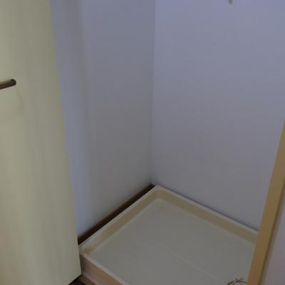 洗濯機置場は隠せるのが嬉ポイント