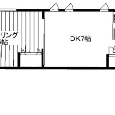 お部屋が横並びの1DK