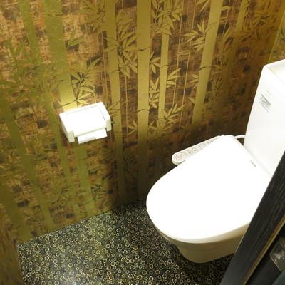 金箔のトイレ…