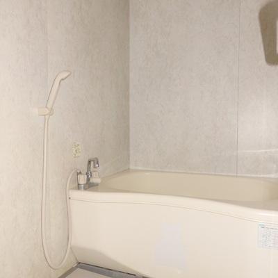 シンプルな浴室。